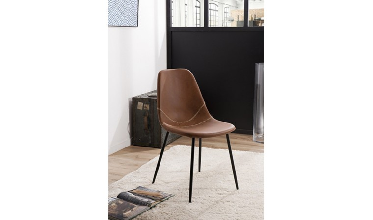 chaise vintage marron