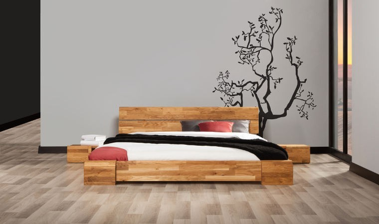 lit en chne massif tokyo meubles chambre a coucher adulte et design pas cher. Black Bedroom Furniture Sets. Home Design Ideas