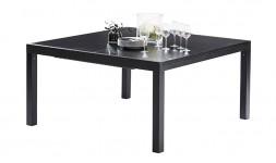 Table de jardin carrée noire extensible