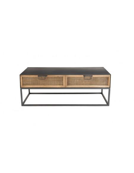 table basse métal industriel