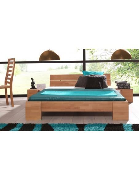 Lit design en bois massif