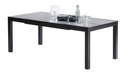 Table de jardin avec rallonge noire et grise