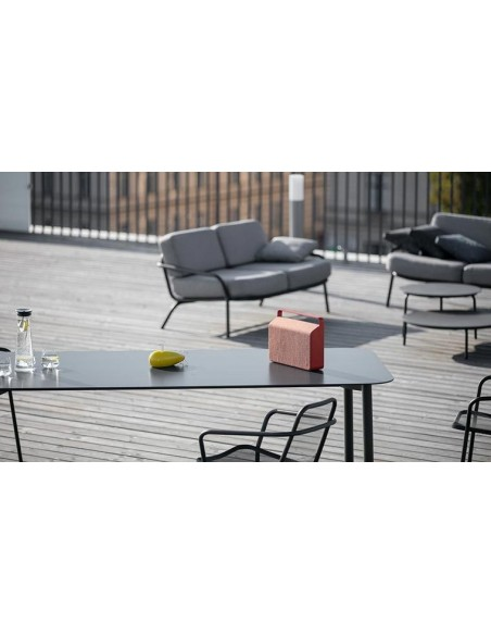 Table de luxe jardin en acier qualité hôtelerie