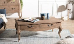 Table basse pin vieilli
