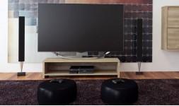 Meuble TV chêne massif blanchi
