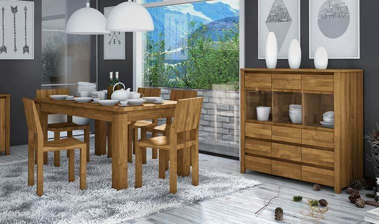 table contemporaine chêne massif