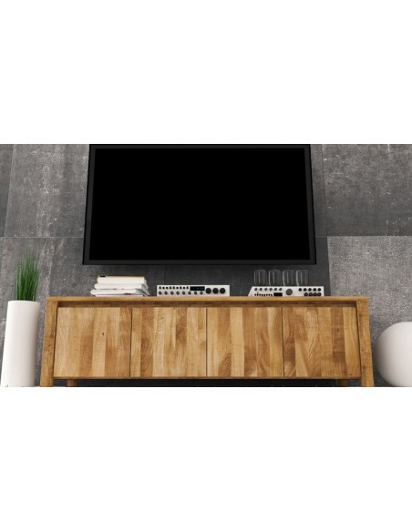 Meuble bas TV en chêne