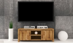 meuble TV en chêne massif