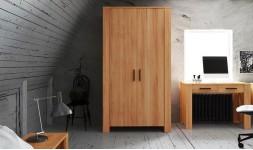 armoire en hêtre massif 2 portes