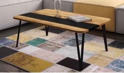 Table basse chene noir