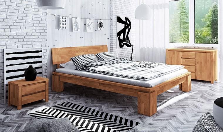 lit en bois massif moderne naturel huil adulte vinci. Black Bedroom Furniture Sets. Home Design Ideas