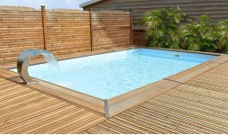 Piscine en pin rectangulaire