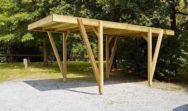 Carport en bois haut de gamme 17 m2 - Alpin