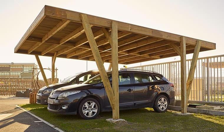 Carport en bois 2 voitures Vosges - House and Garden