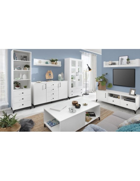 Meuble tv épuré blanc