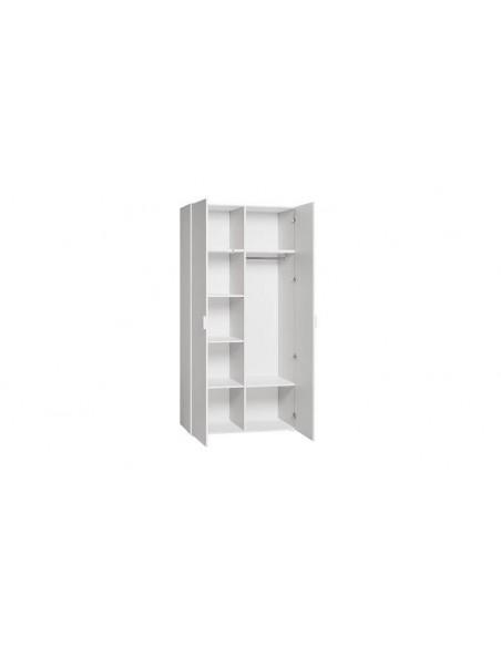 Armoire en bois blanc chambre bébé