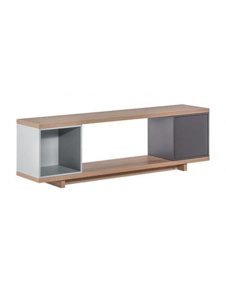 meuble TV en bois et 2 caissons de rangements