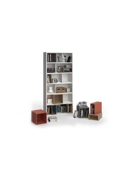 Bibliothèque haute blanche design