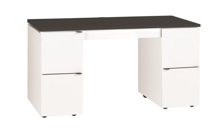Meuble bureau design modulable avec plateau noir yu bureau