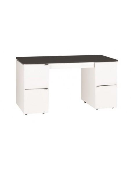 Bureau design pas cher modulable avec plateau Noir YU, Meuble bureau design, bureau design