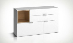 Commode basse blanche