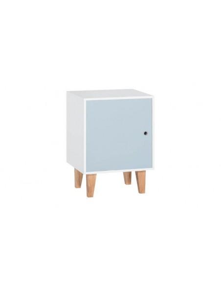 Meuble de rangement coloré en bois chambre ado