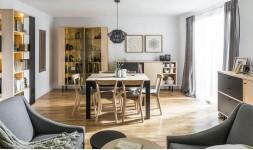 Table à manger design extensible en bois