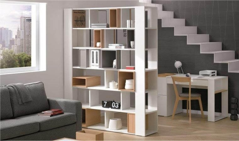 grande biblioth que ouverte blanche design mobilier de salon. Black Bedroom Furniture Sets. Home Design Ideas