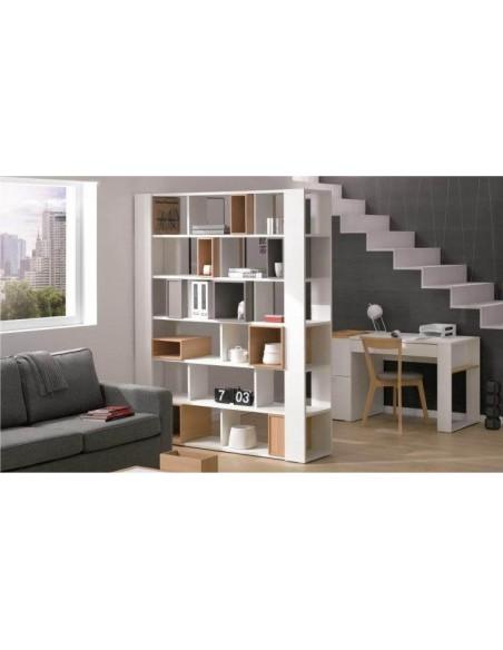 Grande bibliothèque blanche design