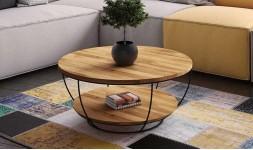 Table basse chêne double plateau