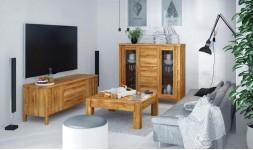 Meuble TV en bois massif -...