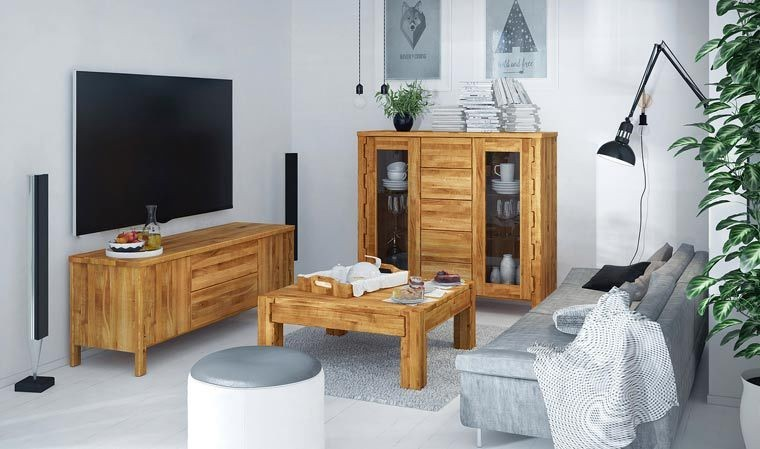 Meuble TV en bois massif - Newik