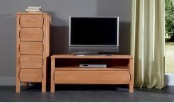 meuble TV hetre massif portes