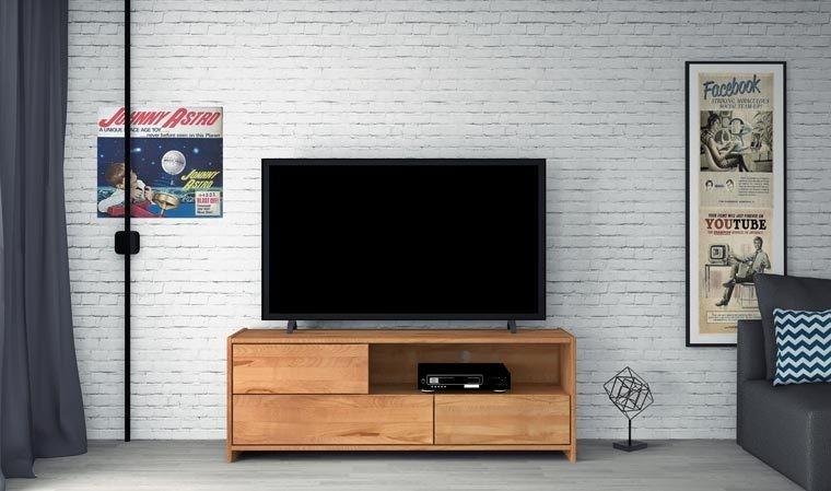 meuble télé hêtre massif naturel