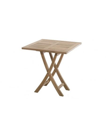 Salon de jardin pliant en bois teck
