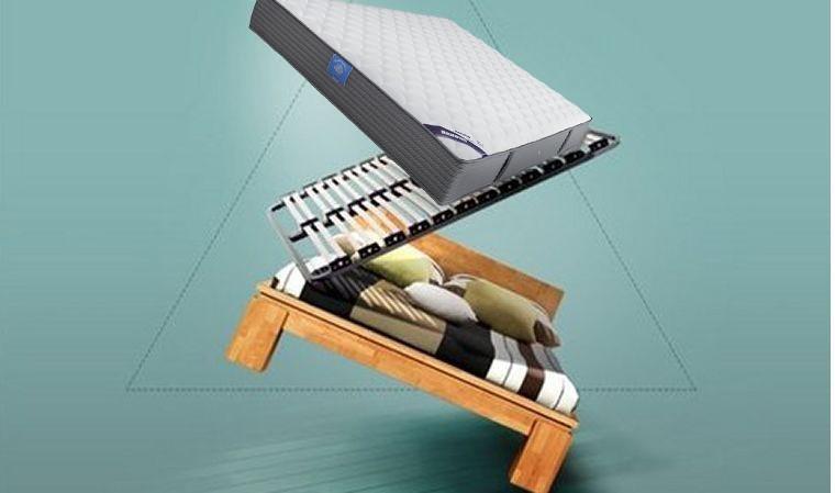 lit complet en bois massif