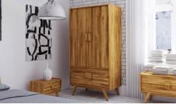armoire 2 portes chêne massif