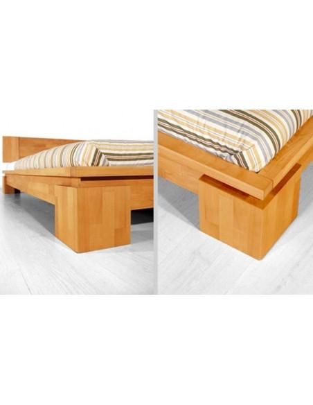 lit en bois massif avec sommier et matelas