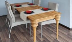 Table avec rallonge en bois