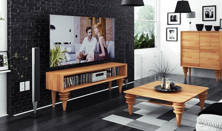 Meuble romantique TV hetre