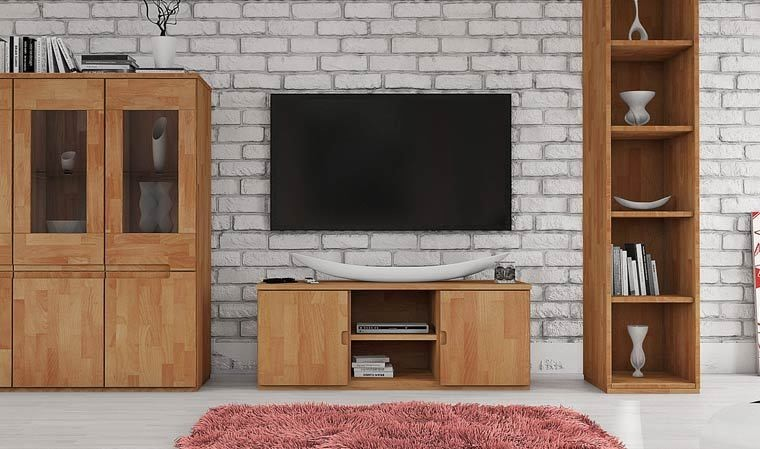 Meuble bas TV en hêtre