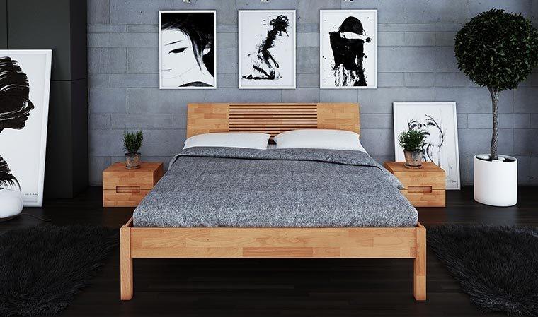 lit en bois naturel zenno house and garden. Black Bedroom Furniture Sets. Home Design Ideas