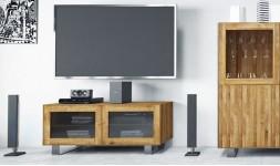 Meuble de télévisions chêne et acier