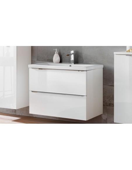 meuble blanc vasque encastrer