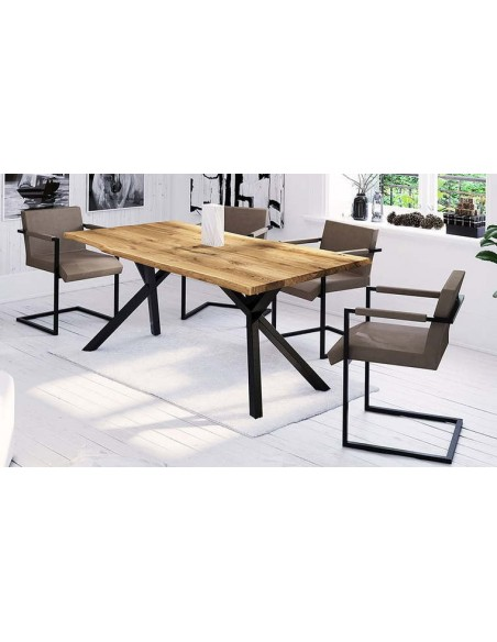 Table chêne massif design