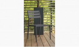 Chaise jardin empilable anthracite