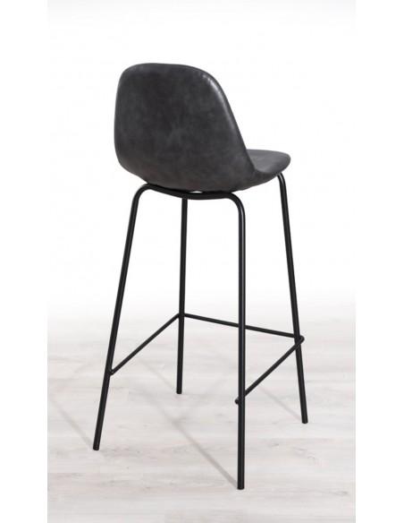 chaise de bar vintage noire