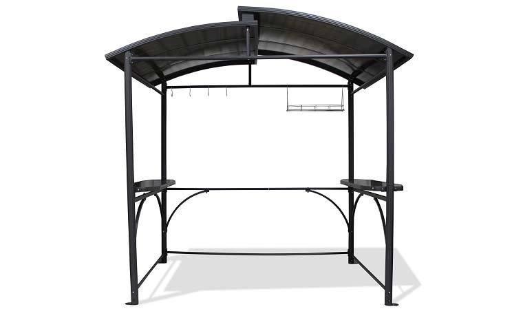 abri pour barbecue avec toit passe fume et tablettes. Black Bedroom Furniture Sets. Home Design Ideas