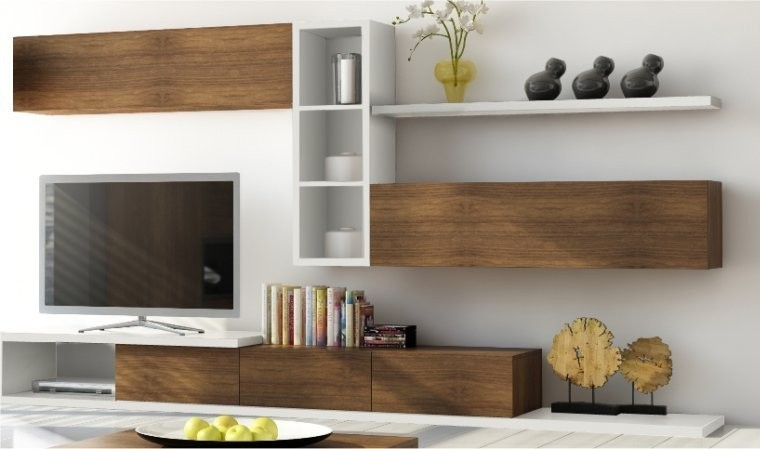 meuble tv 3 tiroirs notte mobilier pour salon design en bois. Black Bedroom Furniture Sets. Home Design Ideas
