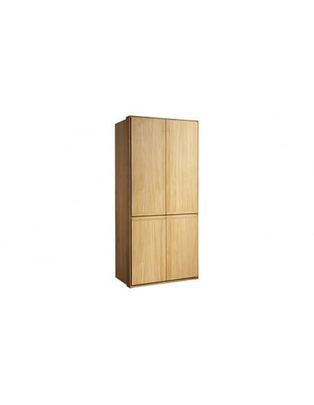Armoire penderie en chêne massif brossé 2 portes